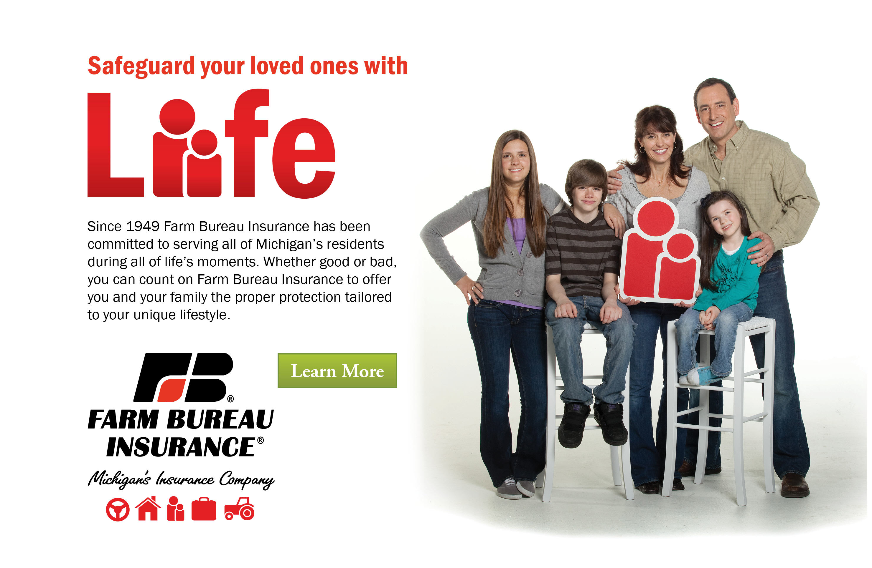 Safeguard your loved ones with life insurance.
