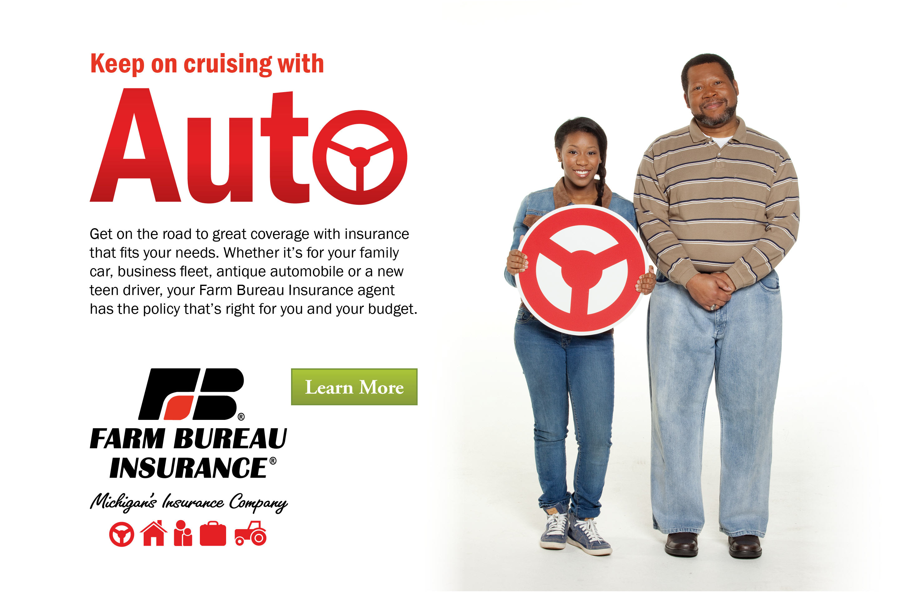 Keep on cruising with auto insurance.